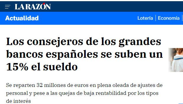 Los consejeros de los grandes bancos españoles se suben el sueldo